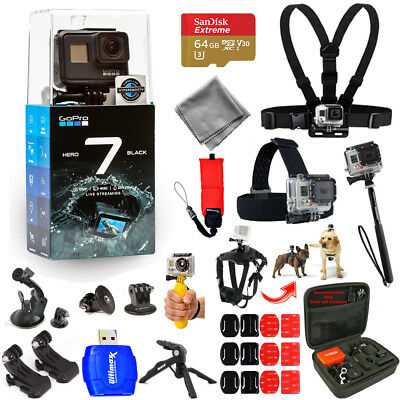 GoPro HERO7 HERO 7 Action Camera (Black) Pro ALL YOU NEED Accessory Bundle