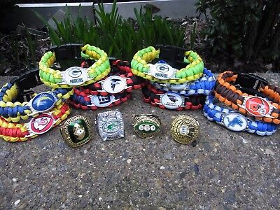 Green Bay Packers Super Bowl Rings  + Wristbands American Football.wow.