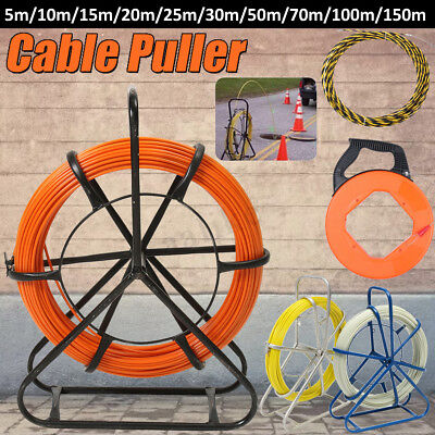 Fiberglass Cable Wire Snake Electricians Duct Rodder Push Puller Fish Tape