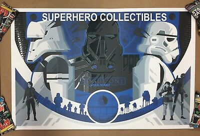 Rogue One A Star Wars Story Variant #148/150 Tom Whalen Lithograph Poster