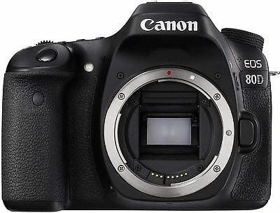 BRAND NEW Canon EOS 80D 24.2MP Digital SLR Camera Black (Body Only) UK DISPATCH