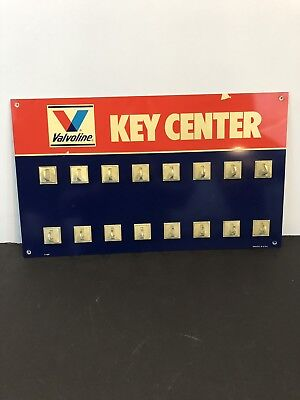 Vintage Valvoline Key Center Multi Key Hanger
