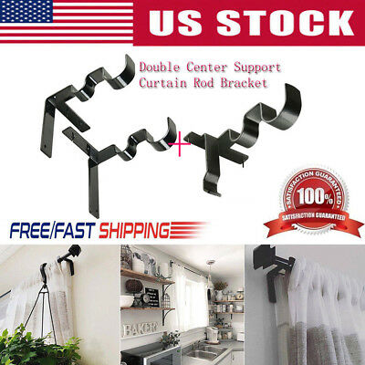 New 1 Set Hang Curtain Rod Holders Tap Right Window Frame Curtain