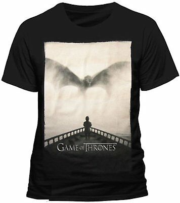 Game Of Thrones - Tyrion Lannister Dragon Silhouette - Official Mens T Shirt