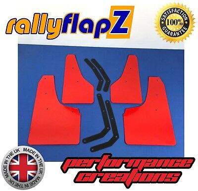rallyflapZ to fit HYUNDAI i30N Mudflaps Set & Fixing Kit Red 4mm Flexible PVC