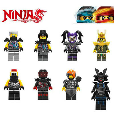 8Pcs Ninjago Ninja Mini Figures Snake Jaguar MR.E Garmaoon Building Blocks Toys