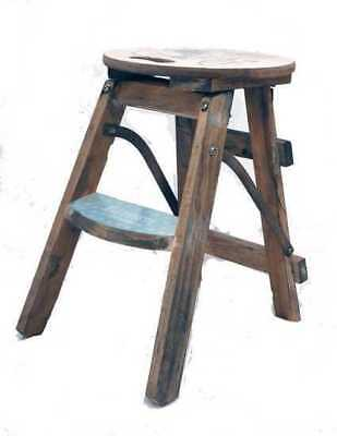 Stool wooden foldable with written Paris house furnishing children's bedroom