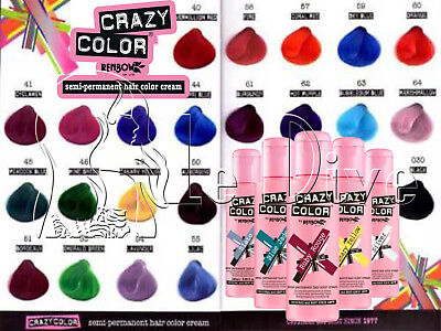 Crazy Color Tinta Semipermanente Crema Colorazione Capelli 100Ml Renbow