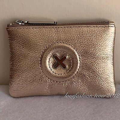 MIMCO SMALL Metallic ROSE GOLD DAYDREAM POUCH WALLET COW LEATHER RRP69.95