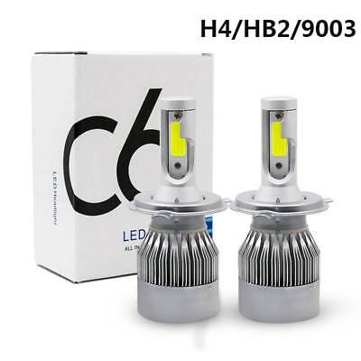 2x COB H4 C6 10800LM 120W LED Car Headlight Kits Hi/Lo Turbo Light Bulbs 6000K