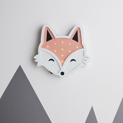 Battery Fox Children's Wall Night Light with Timer 10 Warm White LED Lights4fun