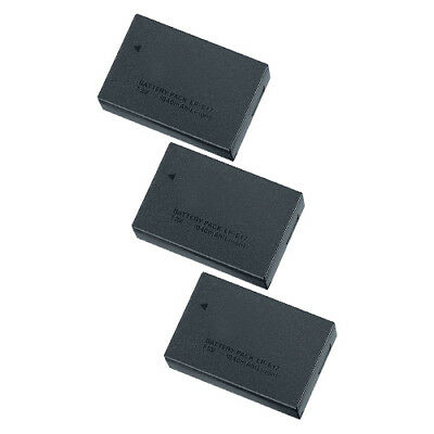 Replacement For Canon LP-E17 1040mAh Li-Ion Camera Battery- 3 Pack