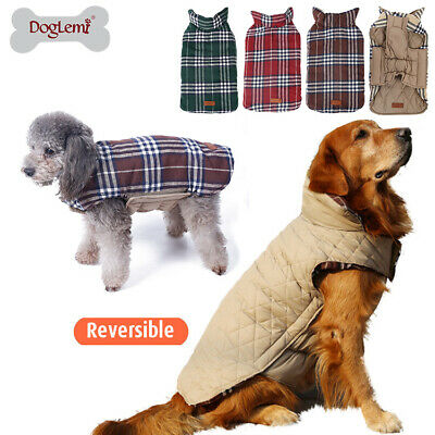 Dog Coat Jacket Waterproof Clothes Small Large xxl xs Harness Winter Reversible