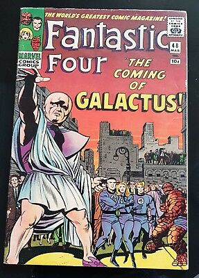 Fantastic Four #48 1st silver surfer cameo Galactus Nice High Grade issue