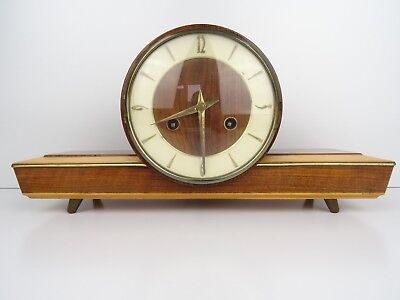 German HERMLE Vintage Clock Antique 8 day Mantel Shelf Retro (Kienzle Junghans)