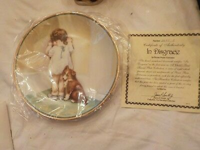 """1985 BESSIE PEASE GUTMANN Collector Plate-""""IN DISGRACE""""-HAMILTON COLLECTION"""