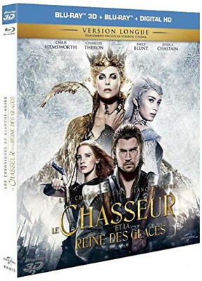 EMILY BLUNT-Le Chasseur Et Le Reine Des Glaces [Combo Blu-Ray 3D +  BLU-RAY NEUF