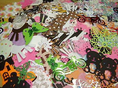 60 Paper Card Making & Scrap Booking Die Cuts, Shapes, Embellishments Mixed Pk
