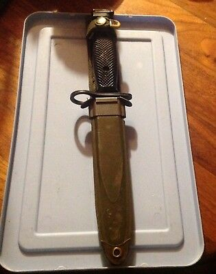 CONETTA M7 US Military Vietnam Fighting Knife USMC Army wth M8A1 PWH Scabbard