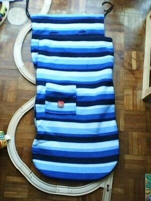 Buggy Snuggle Pushchair Liner Cosytoes Footmuff Blue Stripe