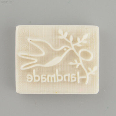 A9BE Pigeon Desing Handmade Yellow Resin Soap Stamp Stamping Mold Craft DIY