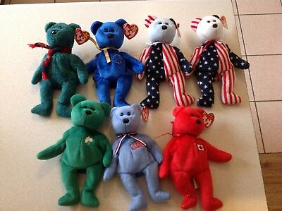TY Beanie Baby Bears Bundle