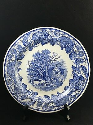 """The Spode Blue Room Collection """"Rural Scenes"""" 10 1/4"""" Dinner Plate England"""
