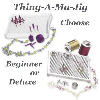 Thing-a-Ma-Jig Wireworking Peg Board Kit CHOOSE Beginner OR Deluxe, Wirewrapping