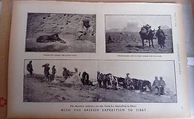 1904 Antique Tibet Print Younghusband British Expedition from the Black & White