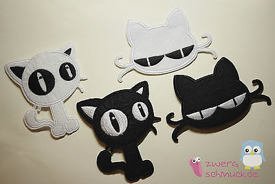 Cats Application Hot Fix Sew-On Patch Sew Repair Decorating - 4 Variations