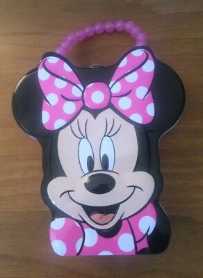 Disney Minnie Mouse Tin Purse with handle Pink