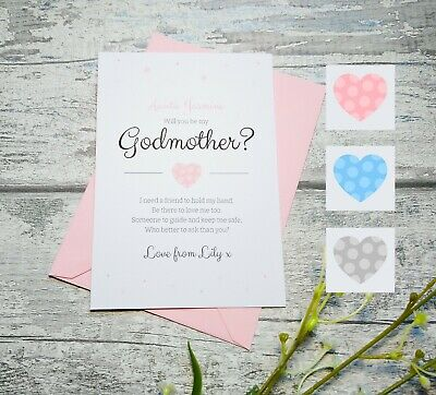 Will you be My / Our Godmother, Godfather, Godparents, Poem Request Card