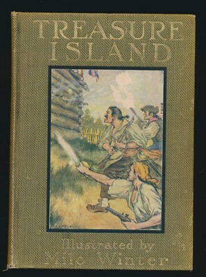 Treasure Island  Milo Winter Color Illustrated 1915 First Edition