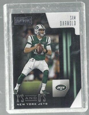 Sam Darnold 2018 Panini Playbook X'S And O'S Rookie Insert Jets NFL!!