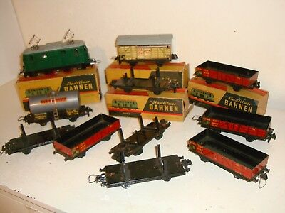 """StadtilmerBAHN-collection of""""S""""gauge item-loco+wagons(11 items)v.rare-some boxed"""