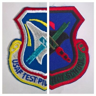 Authentic Air Force USAF Test Pilot School patches (LOT) Edwards AFB