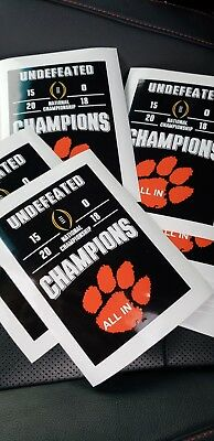 Clemson National Championship Vinyl decal.