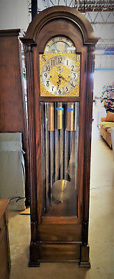 Herschede 9 Tube Hall / Grandfather Clock Model 215 Clairborne 1970's