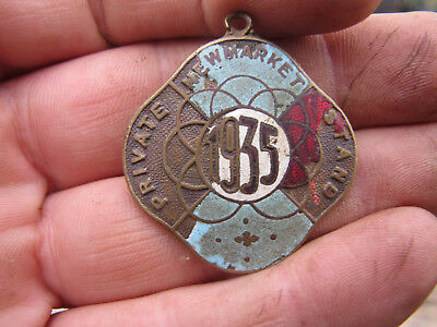 Horse Racing Members Badge Newmarket Private Stand 1935