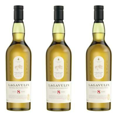 Lagavulin 8 Years Jahre Single Malt Whisky Scotch 3er Alkohol Flasche 48% 700 ml