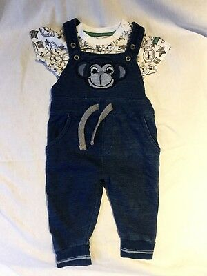 Cheeky monkey dungarees, 0-3 months, boys, girls soft, comfortable