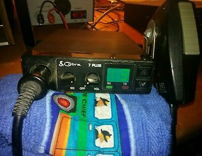 Cobra 7 Plus 40 channel CB Radio Mobile Rig - USED works