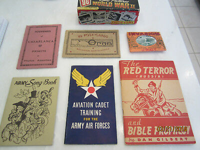 Wwii Us Booklet And Postcard 7 Piece Collection