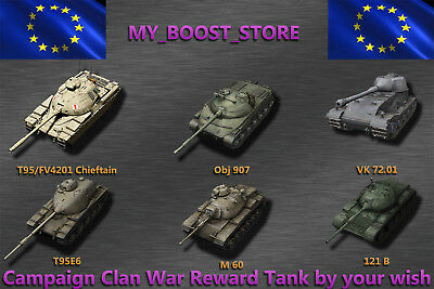 World of Tanks (WOT)  Tier 10 Clan Wars Reward Tank - 8. Clanwars-Kampa