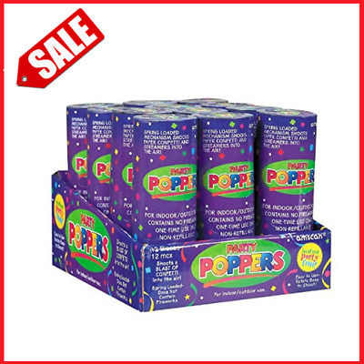 12x Confetti Poppers Cannon Popper Christmas Party Shooter Spring Powered Flair
