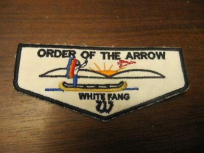 Order Of the Arrow Patch white fang