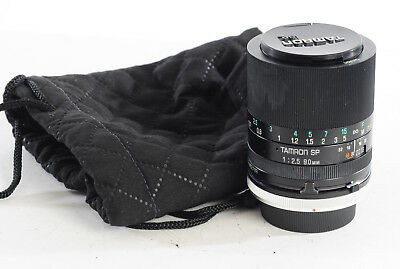 TAMRON 90mm F2.5 SP MACRO 52BB Manual Focus Lens + Canon FD Mount (4687R)