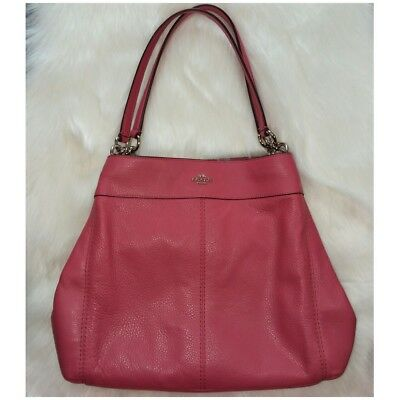 30f5ca721d COACH F57545 LEXY Shoulder Bag In Pebble Leather pink STRAWBERRY ...