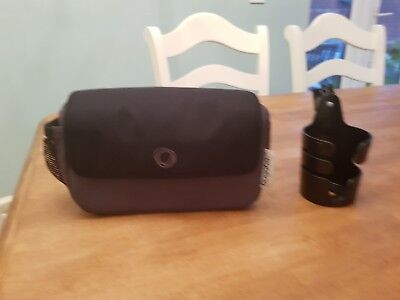 Bugaboo Charcoal black Organiser Bag And Cup Holder With Cameleon Clip 2