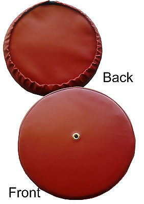 Plain Cherry Red Rear Carrier Scooter Wheel Cover